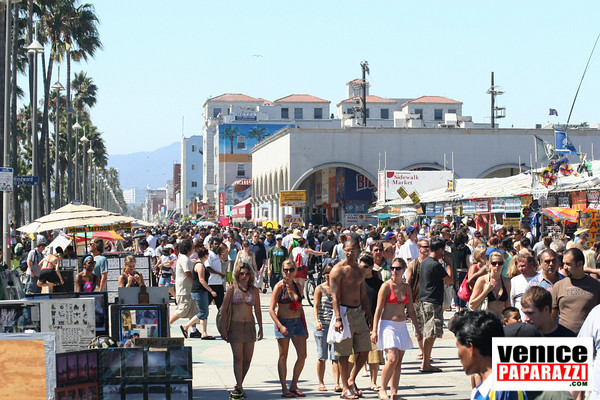 Filming On The Venice Beach Boardwalk