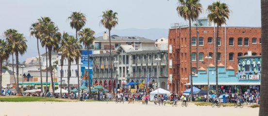Beautiful Day on the Venice Beach Boardwalk