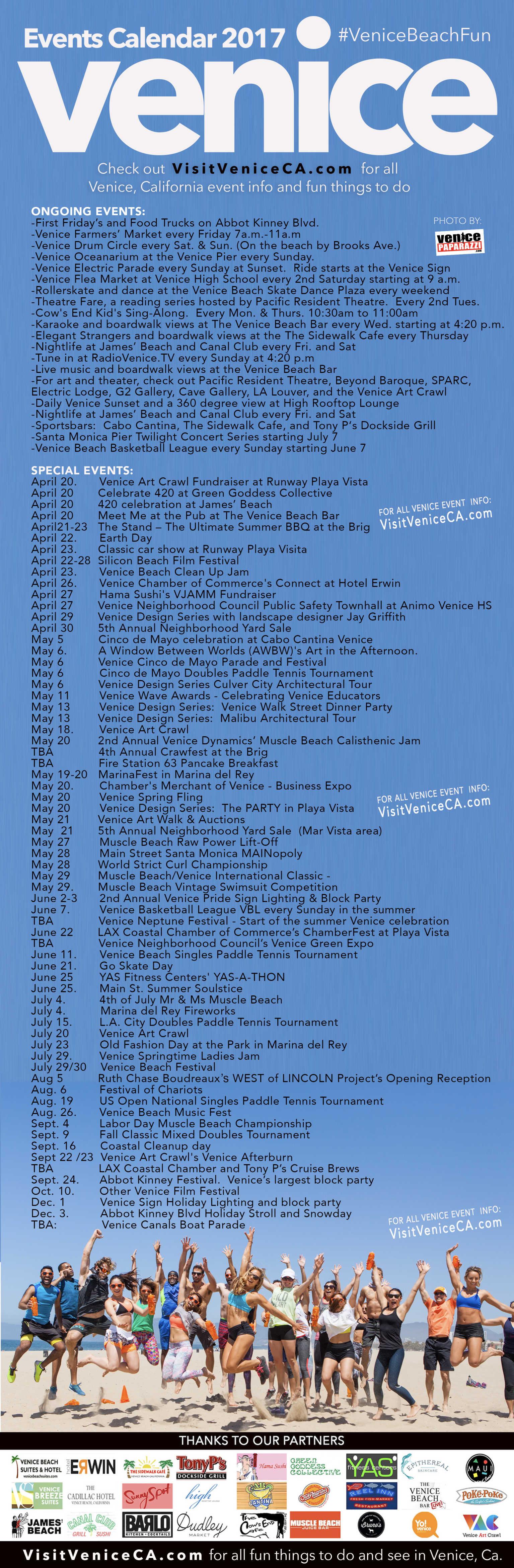 Venice Events Calendar