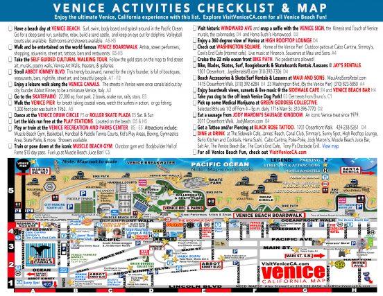 Venice, California Checklist and map L